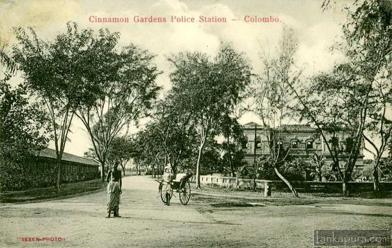 The Cinammon Garden Police Station in 1910. Photo courtesy of Lankapura.com.