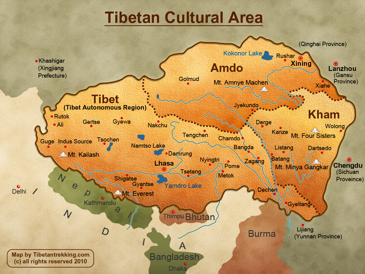 Plateau Of Tibet On Map Of Asia.Eight Things You Need To Know About Tibet Story South Asia